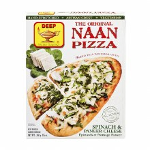 DEEP NAAN PIZZA SPINACH PANEER