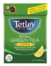 TETLEY GREEN TEA/LEMON 72 BAGS