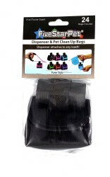 Five Star Pet Black Purse Style Dispenser and Waste Bags 24ct