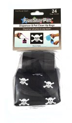 Five Star Pet Black with Skulls Purse Style Dispenser and Waste Bags 24ct