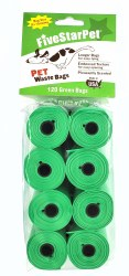 Five Star Pet Green Waste Bags Scented 120ct