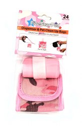 Five Star Pet Pink Camo Purse Style Waste Baggies 24ct