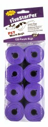Five Star Pet Purple Waste Bags Scented 120ct
