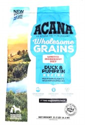 Acana Wholesome Grains Duck and Pumpkin Formula 22.5lb