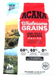 Acana Wholesome Grains Red Meat Recipe 22.5lb
