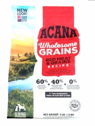 Acana Wholesome Grains Red Meat Recipe 4lb