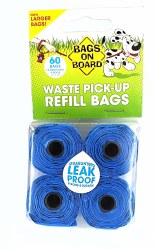 Bags on Board Blue Waste Pick-Up Refill Bags 60ct