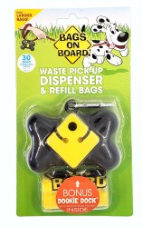 Bags on Board Waste Pick-Up Bone Dispender and and Refill Bags 30ct