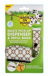 Bags on Board Waste Pick-Up Blue Diamond Pattern and Refill Bags 14ct