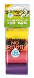 Bags on Board Ranbow Waste Pick-Up Refill Bags 60ct