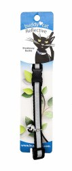 """Buddy Cat Black Reflective Collar with Bell 12"""""""