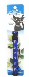 """Buddy Cat Reflective Paws Blue Collar and Bell 12"""""""