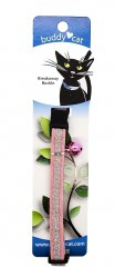 """Buddy Cat Pink Velvet Sparkle Collar with Bell 12"""""""