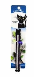 "Buddy Cat Purple Velvet Sparkle Collar with Bell 12"""