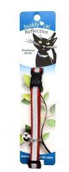 """Buddy Cat Red Reflective Collar with Bell 12"""""""