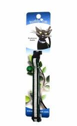 "Buddy Cat Green Velvet Sparkle Collar with Bell 12"""