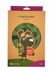 Earth Rated Lavender Poop Bags with Handles 120ct