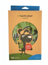 Earth Rated Unscented Poop Bags with Handles 120ct