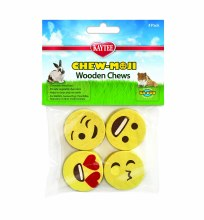 Kaytee Wooden Chew-Moji 4 Pack