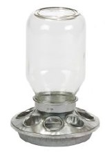 Miller 1 Quart Mason Jar Baby Chicker Feeder