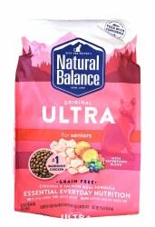 Natural Balance Original Ultra Grain Free Senior Chicken and Salmon Meal Formula 15lb