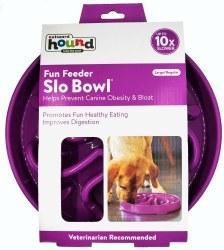 Outward Hound Fun Feeder Slo Bowl Large Purple
