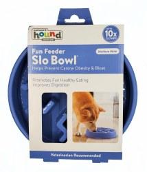 Outward Hound Fun Feeder Slow Bowl Medium Blue