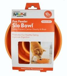 Outward Hound Fun Feeder Slo Bowl Medium Orange