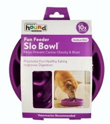 Outward Hound Fun Feeder Slow Bowl Medium Purple