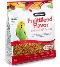 ZuPreem FruitBlend Flavor with Natural Flavors for Small Birds 2lb