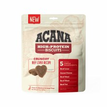 Acana High Protein Crunchy Beef Liver Treats for Medium to Large Dogs 9oz