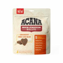 Acana High Protein Crunchy Turkey Liver Treats for Medium to Large Dogs 9oz