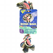 """Booda Multi-Colored Rope Bone Small 9"""""""