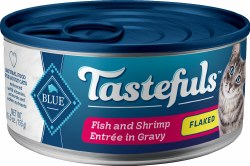 Blue Buffalo Tastefuls Flaked Fish and Shrimp in Gravy with Brown Rice 5.5oz