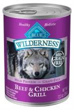 Blue Wilderness Adult Dog Beef and Chicken 12.5oz