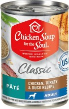 Chicken Soup for the Soul Dog Classic Chicken, Turkey and Duck Recipe Pate 13oz