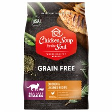 Chicken Soup for the Soul Cat All Life Stages Grain Free Chicken and Legumes Recipe 4lb