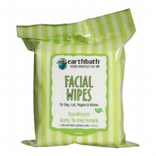 Earthbath Hypo-Allergenic Facial Wipes for Pets in Cucumber Melon 25ct