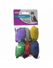 SPOT Cat Felt Mice with Catnip 6 Pack