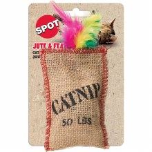 SPOT Cat Jute and Feather Sack with Catnip