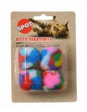 SPOT Cat Kitty Yarn Puffs 4 Pack