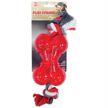 """SPOT Play Strong Mini Bone 3.5"""" with Rope"""