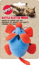 SPOT Cat Rattle Clatter Mouse with Catnip