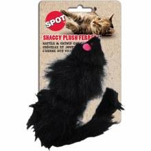 SPOT Cat Shaggy Plush Ferret Rattle and Catnip