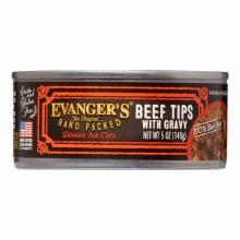 Evanger's Cat Beef Tips with Gravy Dinner 5.5oz