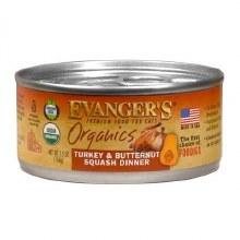 Evanger's Cat Organic Turkey and Butternut Squash Dinner 5.5oz