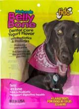 Fido Naturals Belly Bone Dental Treats Yogurt Flavor Large 4 Pack