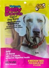 Fido Naturals Belly Bone Dental Treats Yogurt Flavor Medium 8 Pack
