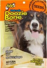 Fido Naturals Doozie Bone Dental Treats Cheese Flavor Large 4 Pack