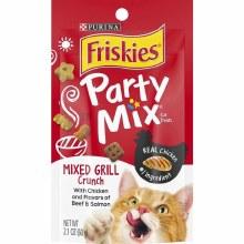 Friskies Party Mix Mixed Grill Crunch Adult Cat Treats 2.1oz